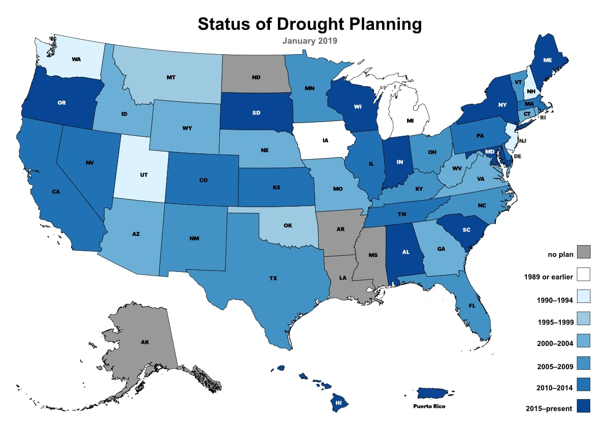 Out Of The 45 State Drought Plans In The Drought Centers Database 25 Plans Are More Than 10 Years Old