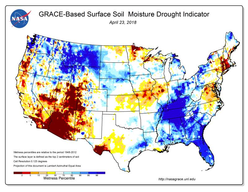 Drought Impact Reporter Nasa Grace Data Assimilation Status