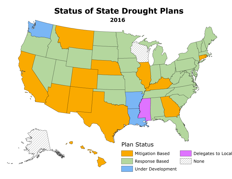 Nasa Grace Data Assimilation Status Of State Drought Planning U S Drought Monitor
