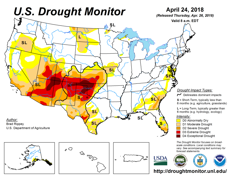 National Drought Mitigation Center Website Home - Us droup map california chage